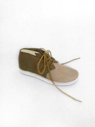 prototype de chaussure en cuir kaki