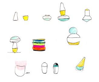 designer-claire-barrera-vaiselle-totem-empilement-bordeaux-dessin