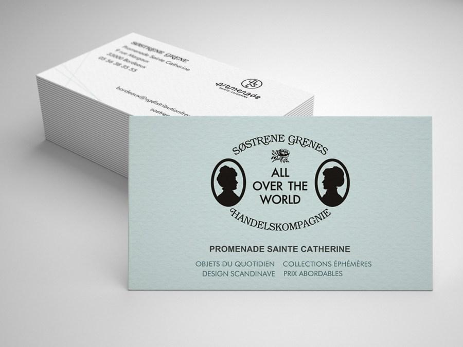 CLAIRE BARRERA graphiste graphisme-sostrene grene designer cartes de visite visit card