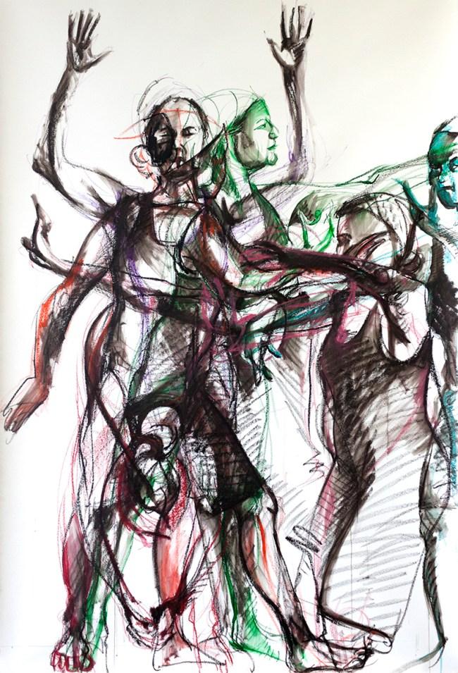 2016 oil crayon drawing