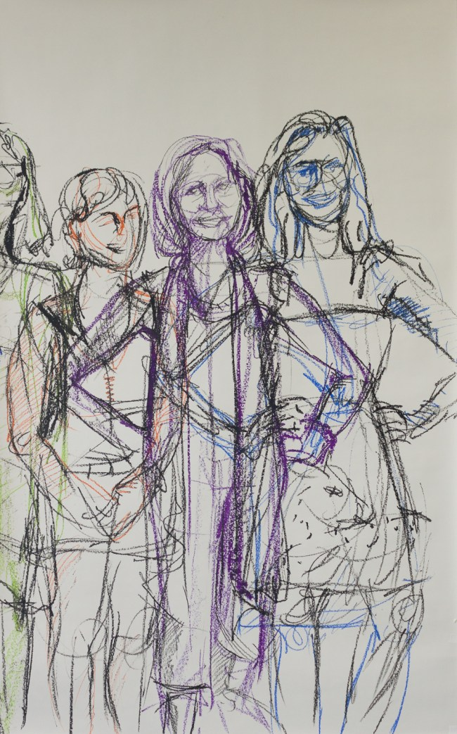 Detail of finished Open Studios drawing