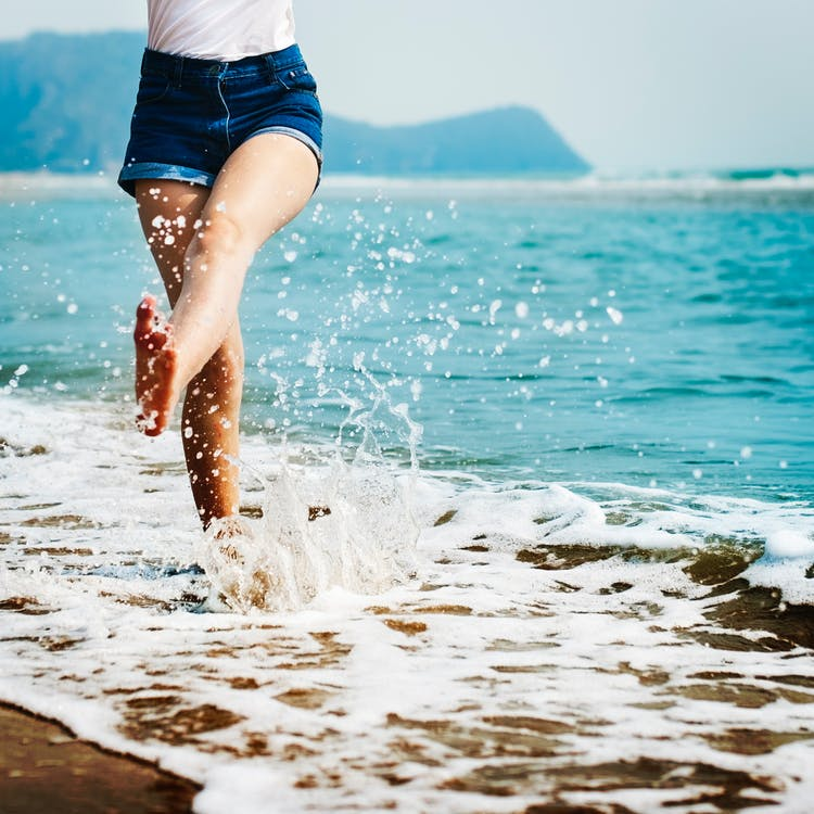 beach, girl, depression