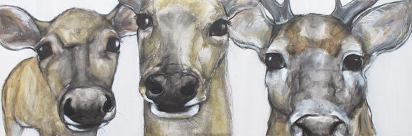 Deer painting - Claire Dunaway