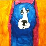 Blue Dog expressionist portraits