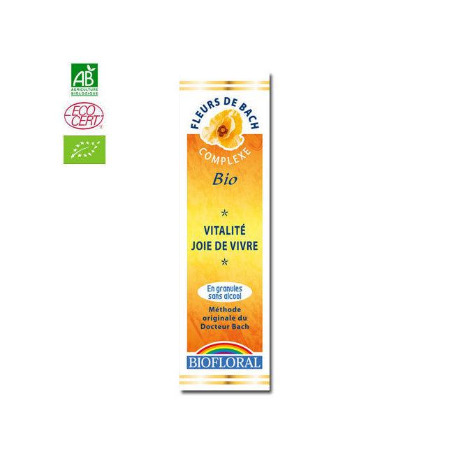 Vitalité - Complexe n°2 Fleurs de Bach bio sans alcool granules 10g