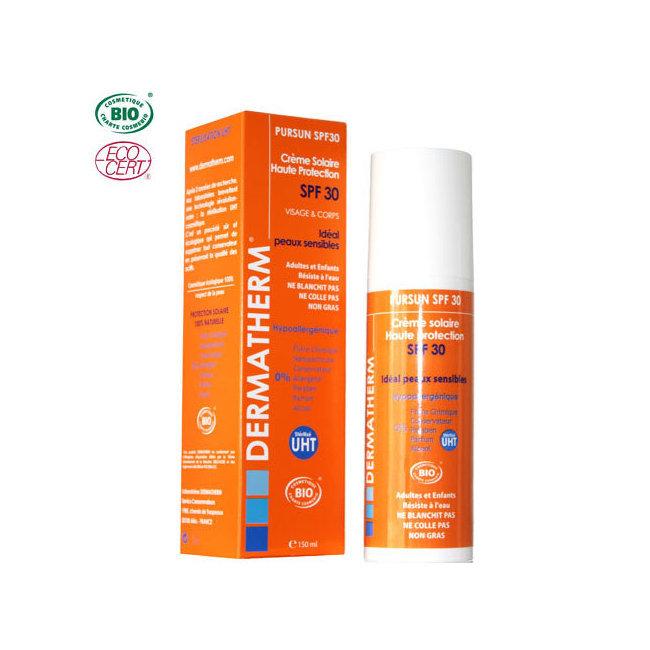 PurSun Crème solaire bio SPF 30 Visage & Corps 150ml