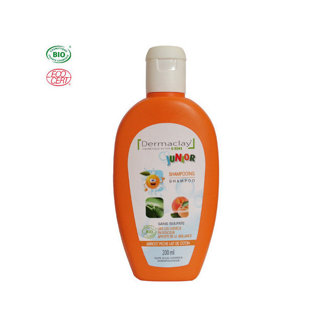 Shampoing doux bio Enfant Pêche Abricot 200ml