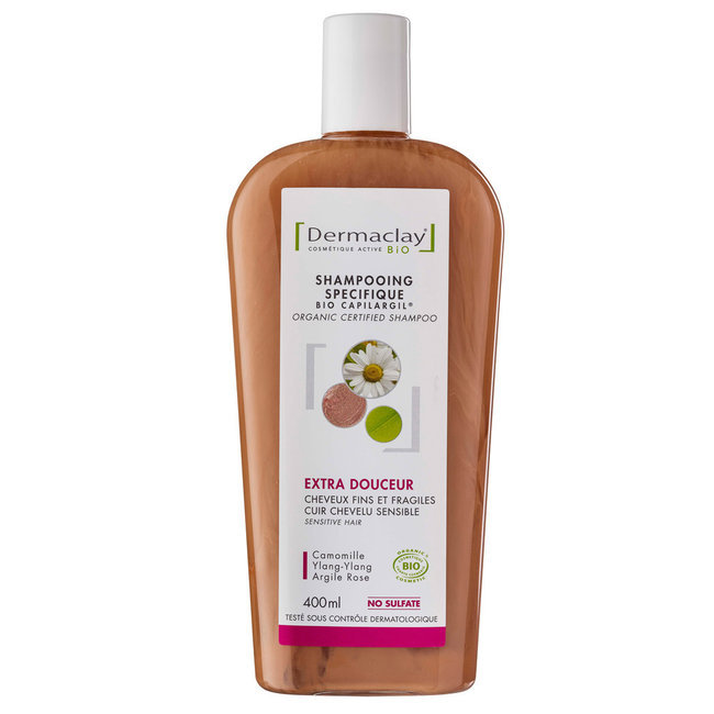 Shampoing Bio Capilargil Cheveux fragiles Argile rose 400ml