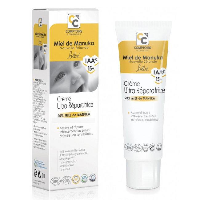 Crème ultra réparatrice Bébé au miel de Manuka 40ml