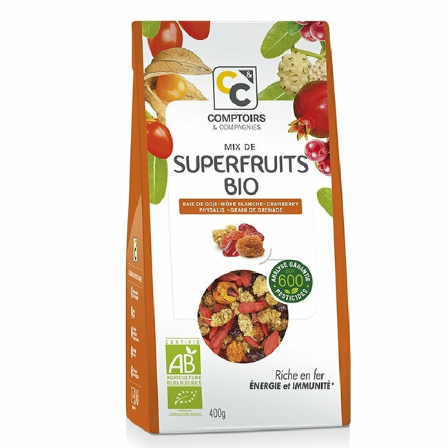 Mix Superfruits bio Goji, cranberries, mulberries 400g
