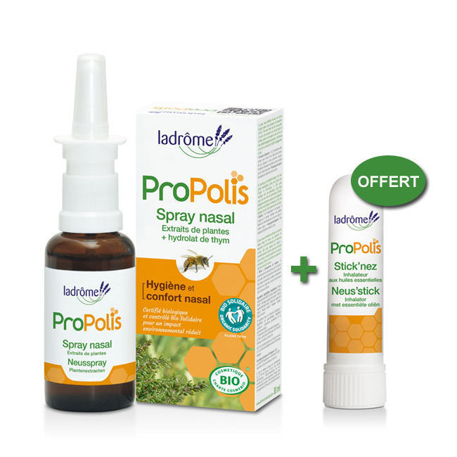 Duo Spray Nasal à la Propolis + Stick'nez OFFERT