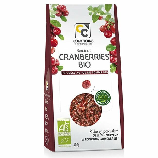 Baies de cranberries bio séchées - Canneberges 400g
