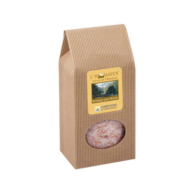 Sel rose de l'Himalaya - Recharge 1kg pour moulin