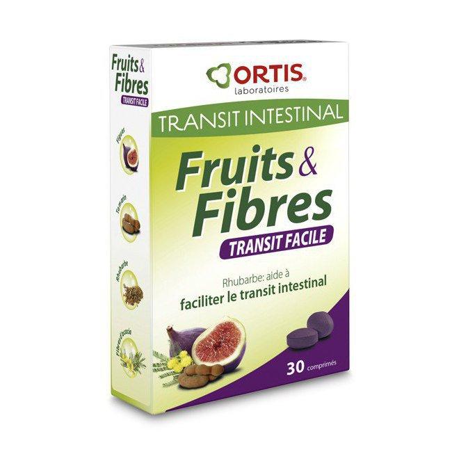 Fruits et Fibres à la rhubarbe - Transit facile - 30 comprimés