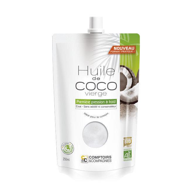 Huile de coco vierge bio - Doypack 250ml