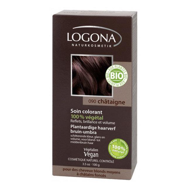 Châtaigne - Soin colorant végétal - Reflets pour cheveux blonds à châtains foncés 100g
