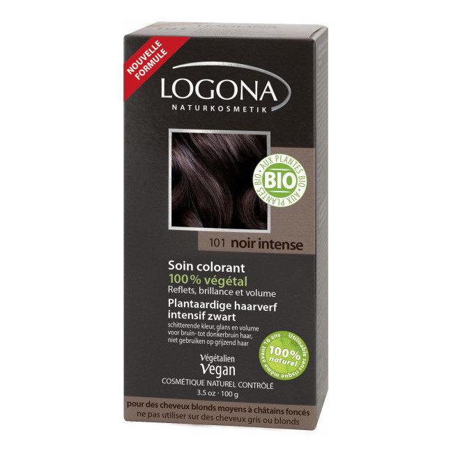Noir intense - Soin colorant végétal - Reflets pour cheveux blonds à châtains 100g