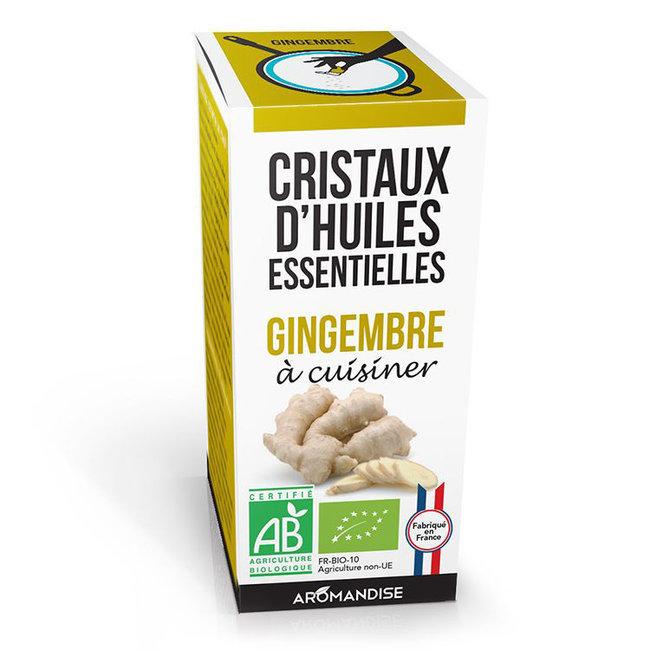 Cristaux d'huiles essentielles Gingembre bio 20g