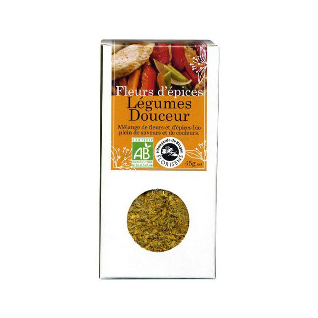 Fleurs d'épices bio Légumes Douceur pour la cuisine 45g