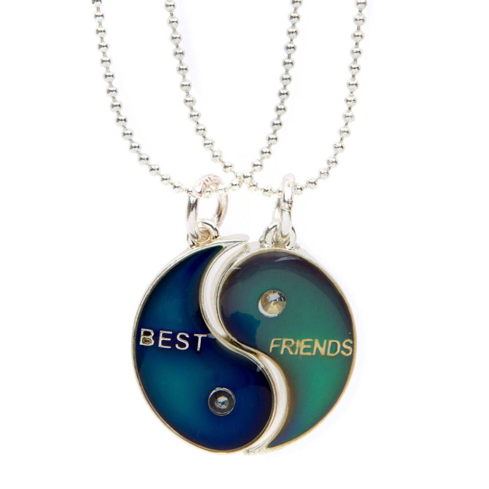 Best Friends Yin-Yang Mood Pendant Necklace | Claire's US