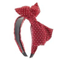 Image result for claire's headband with bow red polka dot