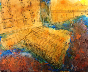 TN-music sheets and abstract expressionism copy
