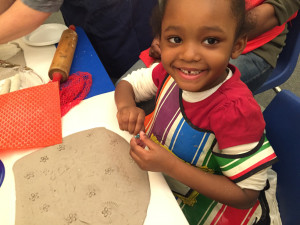 smiles adding textures to our clay slabs copy