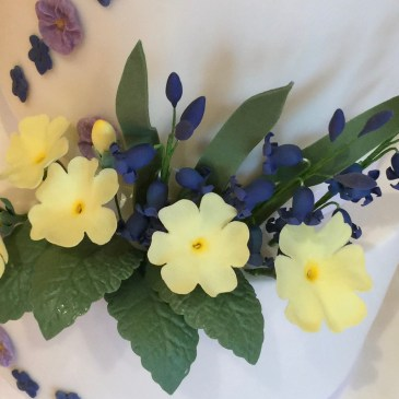 posy of sugar spring flowers