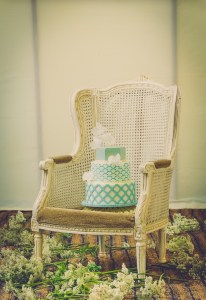 wedding cake on a chair
