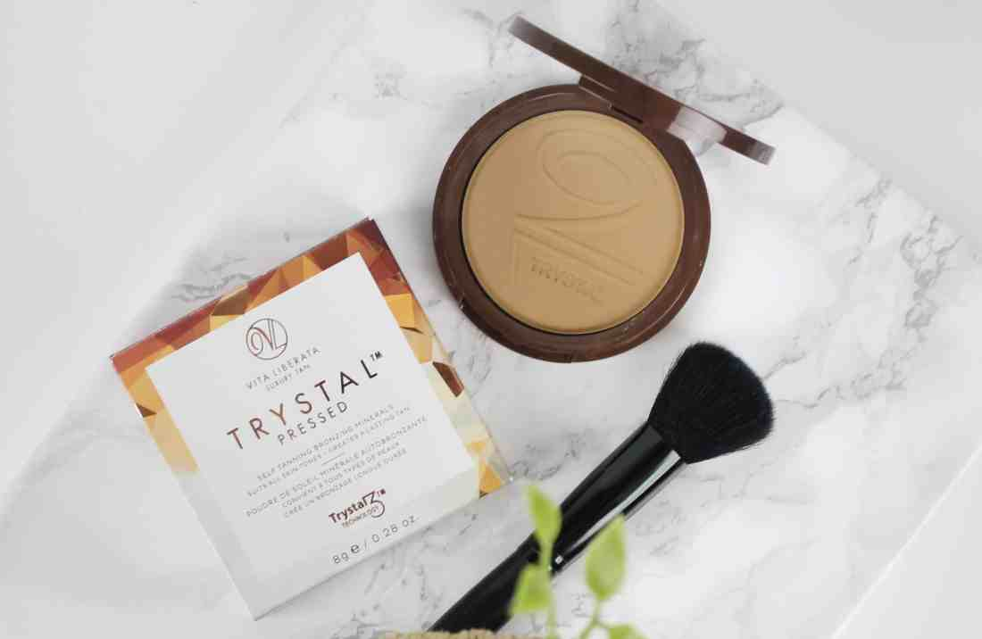 Vita Liberata Trystal Pressed Self Tanning Bronzing Minerals in the shade bronze compact
