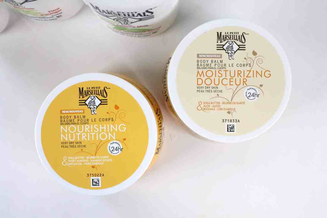 le petit marseillais nourishing body balm and moisturizing body balm
