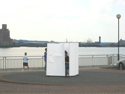 """Waterfront"""" Performance on Kings Parade, Liverpool. 11 August 2004, 14.10-14.40pm"""