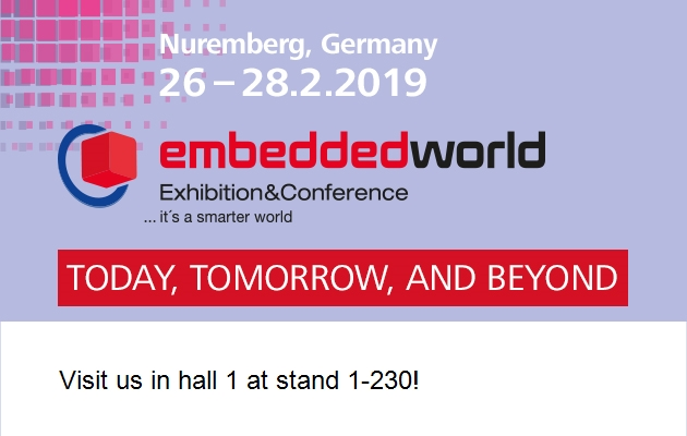 Clairitec at EmbeddedWorld 2019