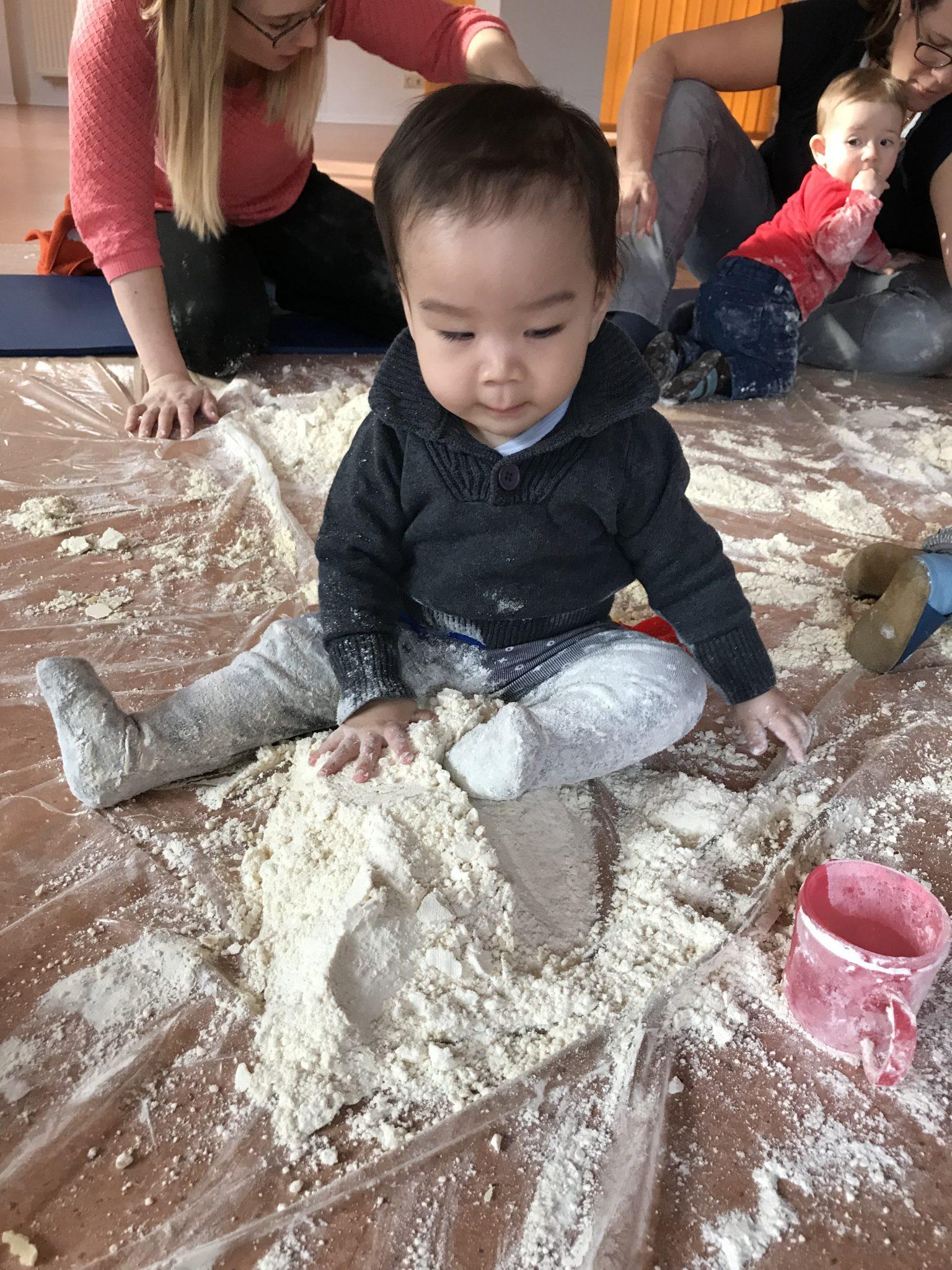 5. Sensory class – magic sand