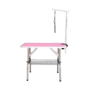 Tavolo pieghevole con stelo singolo senza ruote rosa