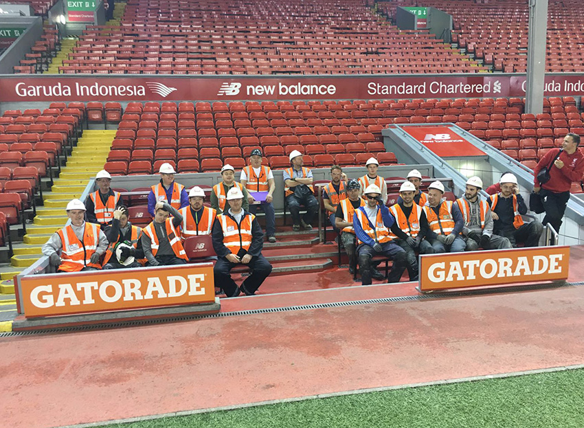 Clan Team at Anfield