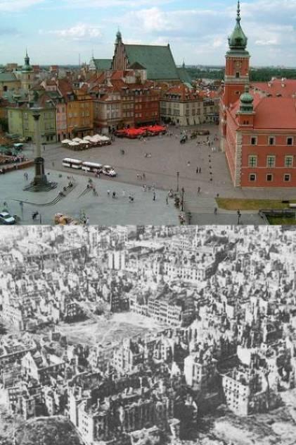 06. Varsóvia, Polônia, depois da guerra e reconstruída hoje em dia