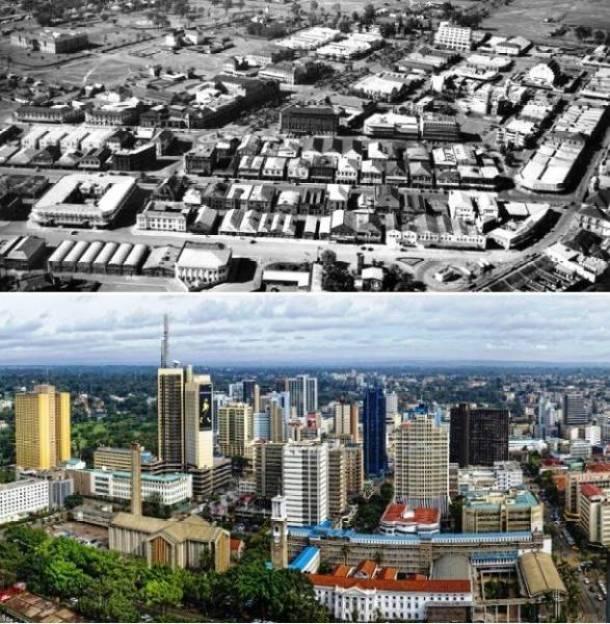 23. Nairóbi, Quênia início de 1960 e agora