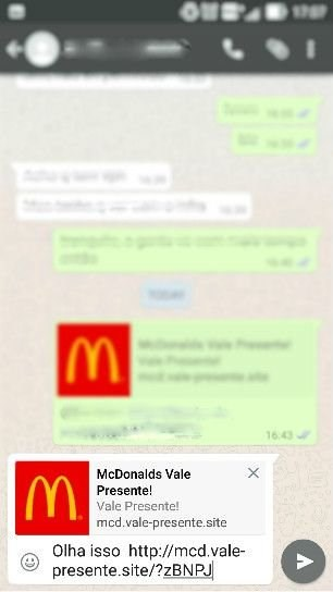 Golpe no WhatsApp
