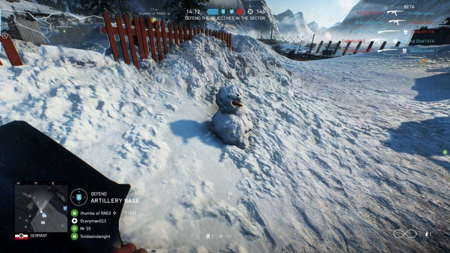 Easter Egg: Você pode construir um boneco de neve no Battlefield V