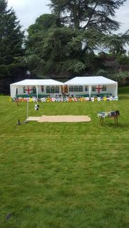 All set up for a summer garden party