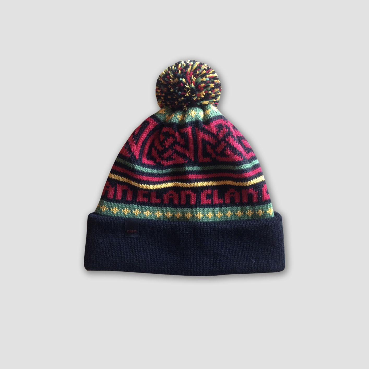 3d0555af60f Clan Merino Wool Pompom Rasta Beanie