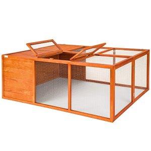 TecTake Cage enclos pliable XXL à lapins lièvre cobaye (LxlxH): 159 x 110 x 55 cm