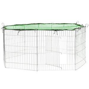 TecTake Enclos extérieur avec filet de protection pour petits animaux | Diamètre env. 145 cm – diverses couleurs au choix- (Filet vert | no. 402394)