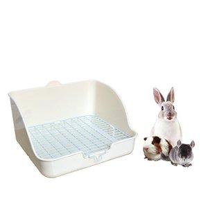 Petit animal de compagnie de rat de rat, carrée potent le dresseur de litière de coin litière de boîte de compagnie pour le petit animal / lapin / cochon de Guinée / galesaur / furet (couleur aléatoire)