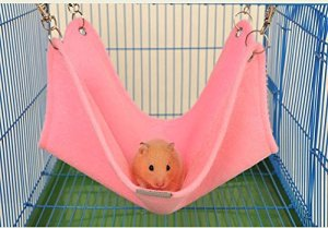 Blu-ray-Residenz Hiver Chaud en Peluche Hamac balançoire à Suspendre Lit Maison pour Hamster Syrien Gerbille Rat Mouse Chinchillas écureuil Cochon d'Inde Cage pour Petit Animal Jouet