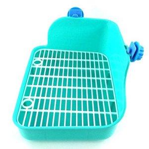 Kentop Animal Domestique Toilettes bac à litière Maison de Toilette Litière d'angle Boîte à litière de Lapin Toilette Pet Toilet Petits Animaux Hamster Lapin Cochon d'Inde Vert (Vert)