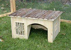 Kerbl Nature Maison avec Râtelier pour Rongeur 54 x 41 x 30 cm