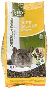 Aime Nourriture Nutri'Balance Savour Pellets Chinchilla 900 G pour Petits Animaux – Lot de 4