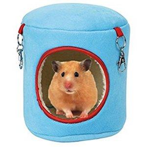 Spaufu Pet Hamac à suspendre doux et chaud Hamac jouet en forme de souche thermique Lit pour hamster Rat souris écureuil Cage pour petits animaux jouet pour animal domestique accessoire